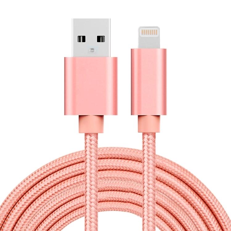 Lightning till USB kabel i tyg för iPhone, 3m