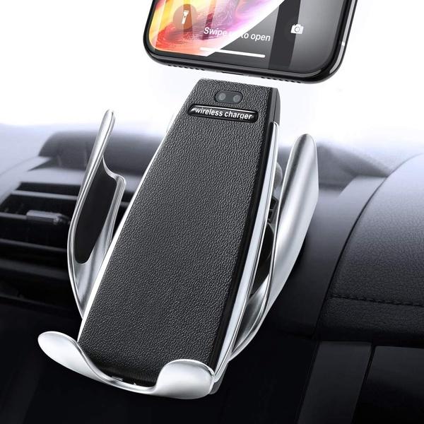 Smart Mobilhållare med Trådlös Laddare IR Sensor